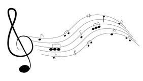 背景质朴的音乐 向量例证
