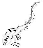 背景质朴的音乐 免版税库存图片