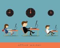 背景绿色办公室工作者 向量例证