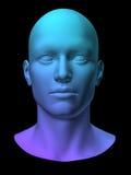 背景黑色完成的头行光亮人 向量例证