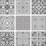 背景黑色收集几何模式无缝的集向量白色 免版税库存照片