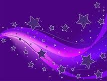 背景紫色星形 免版税库存照片