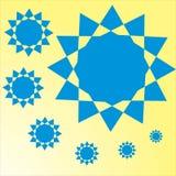 背景黄色星简单的septi 免版税库存照片