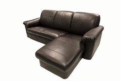 背景黑色查出的沙发白色 免版税库存图片