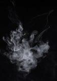 背景黑色烟 屏幕混合方式 免版税库存图片
