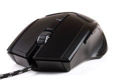 背景黑色计算机鼠标白色 免版税库存照片