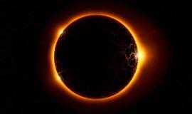 背景黑色设计太阳蚀的例证