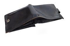 背景黑色钱包白色 库存图片