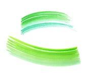 背景绿色水彩 库存照片