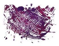 背景紫色BLOB被抹上的油漆 免版税库存图片
