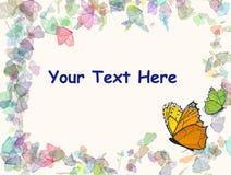 背景蝴蝶框架 免版税库存照片