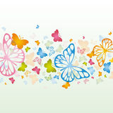 背景蝴蝶 免版税库存图片