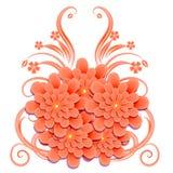 背景细部图花卉向量 例证 免版税库存照片