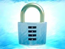 背景CD的数据盘堆积在挂锁安全白色的查出的关键字 免版税库存图片