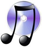 背景CD的盘查出的附注白色 库存照片