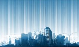 背景citypark纽约 免版税图库摄影