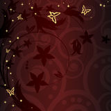 背景curles花卉金黄魔术 免版税库存照片
