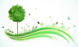 背景eco绿色 皇族释放例证