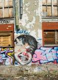 背景graffitti grunge墙壁 免版税图库摄影