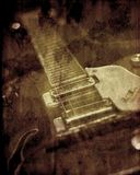 背景grunge吉他纹理 免版税库存图片