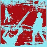 背景grunge吉他 免版税图库摄影