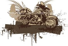 背景grunge摩托车 库存图片