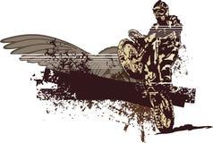 背景grunge摩托车 免版税库存图片