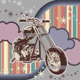 背景grunge摩托车 免版税图库摄影