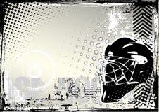 背景grunge曲棍球冰 皇族释放例证