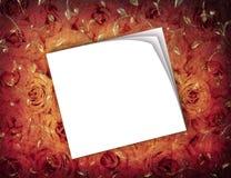 背景grunge玫瑰 库存照片