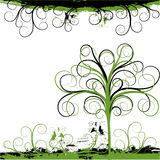 背景grunge结构树向量 库存图片