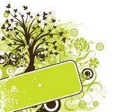 背景grunge结构树向量 图库摄影