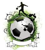 背景grunge足球 免版税图库摄影