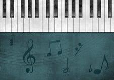 背景grunge钢琴 免版税图库摄影