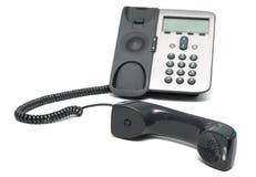 背景ip查出的电话白色 免版税库存照片