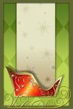 背景s圣诞老人雪橇 库存照片