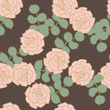 背景seampless灰色的玫瑰 库存图片