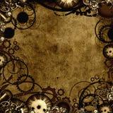 背景steampunk纹理 免版税库存照片