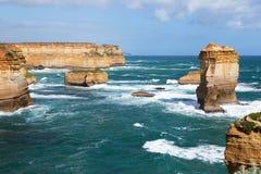 背脊岩层,维多利亚,澳大利亚 免版税库存照片