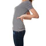 背部疼痛学员青少年的妇女 免版税图库摄影