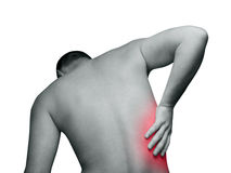 背部疼痛 免版税图库摄影