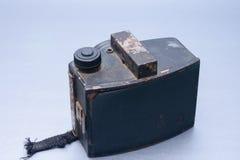 背面图葡萄酒照相机 免版税库存照片