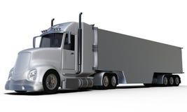 背面图铝拖车前面 免版税库存照片