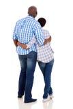 背面图非洲人夫妇 库存照片