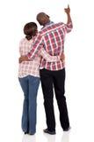 背面图非洲人夫妇 免版税库存图片