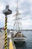 背面图:高船一和全部,口岸阿德莱德, SA 免版税库存图片