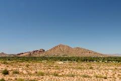胎面补料山在菲尼斯,亚利桑那 免版税库存图片
