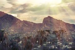 胎面补料山,菲尼斯, AZ 免版税图库摄影