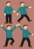 胖的丈夫愉快的舞蹈 免版税库存照片