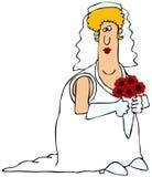 胖的新娘 免版税库存照片